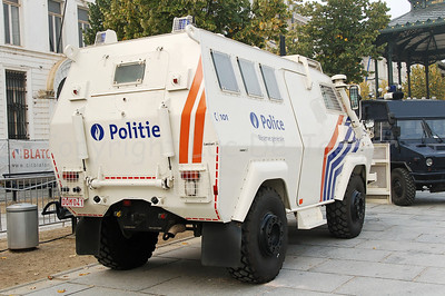 The Armoured Personnel Carrier Shorland 600 in use by the Belgian Federal Police.