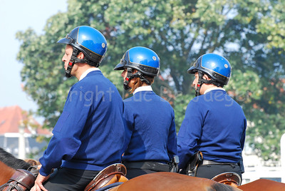 A team of the Belgian federal mounted police ready to patrol.