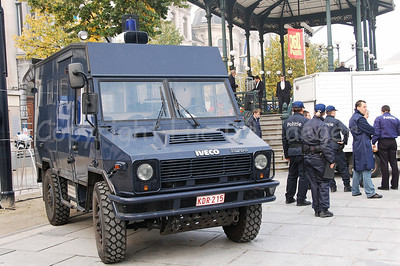 The Iveco 4x4 vehicle of the Belgian federal police that is currently being replaced by the new Mercedes Sprinter vehicles.