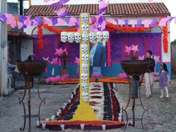 This was the largest single altar dedicated to a well known local man who was known as a historian of their town