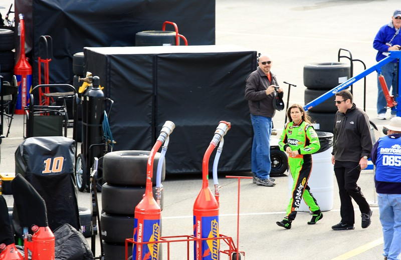 Danica Patrick  Go Daddy Car Driver and Daytona 500 Pole winner 1st woman ever to get a pole! Congrats Danica~
