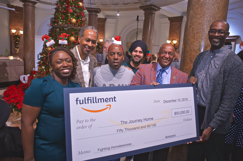 December 10, 2019 - Amazon's Holiday Donation to the Journey Home