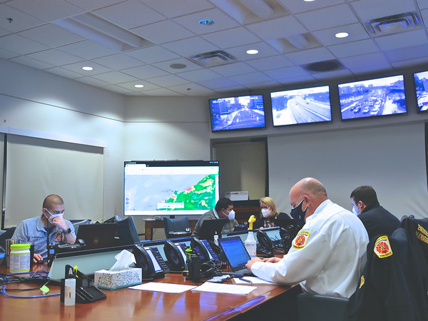 December 16, 2020 - Emergency Operations Center Visit - First Snow of 2020