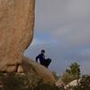 Joseph on a rock.