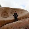 Christian on a rock.