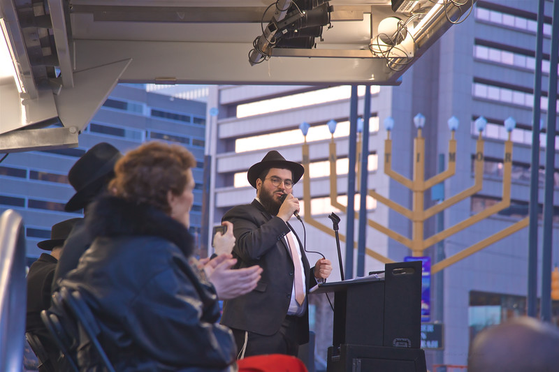 "December 22, 2019 - Mayor Bernard C ""Jack"" Young and Chabad of Maryland: Annual Inner Harbor Menorah Lighting"