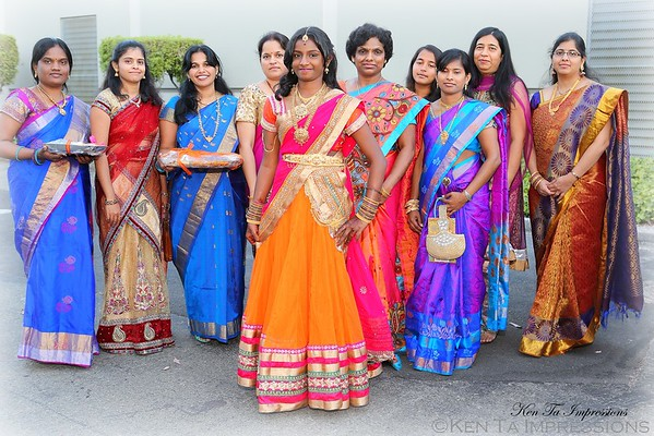 Deeksha's Half Sari Celebration