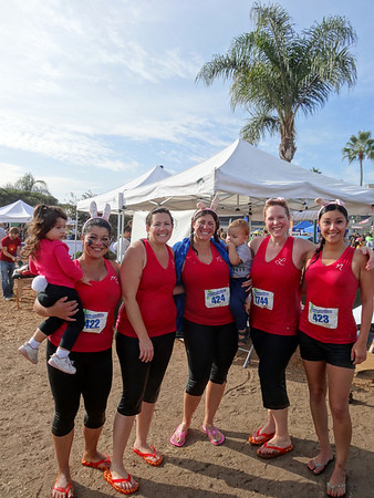 Del Mar 5K Charity Mud Run with Ines' Girls, Del Mar CA October 6, 2012