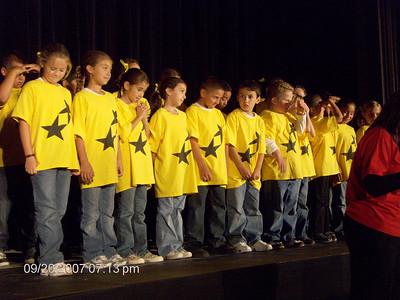 Delaney in her 3'rd grade musical program.