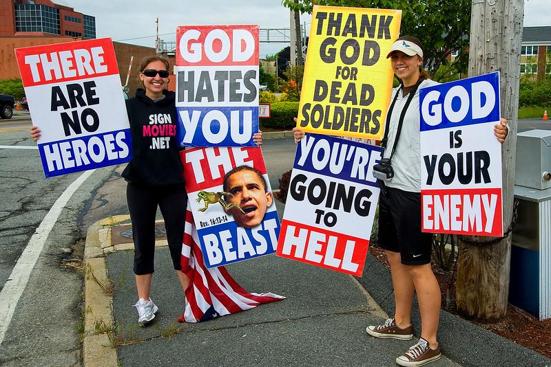 Street demonstration, Newport, Rhode Island