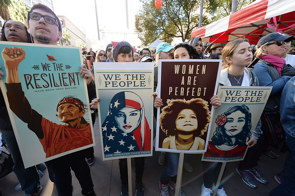 Women's March - L A 2017