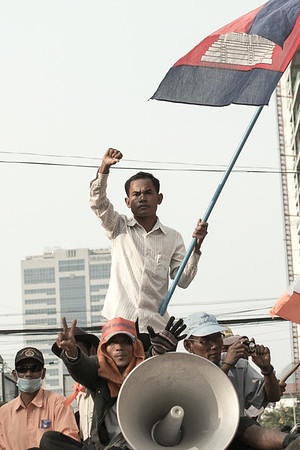 Demonstrations in the Streets of Phnom Penh