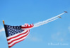 T-6 Pair Sweeps Past American Flag