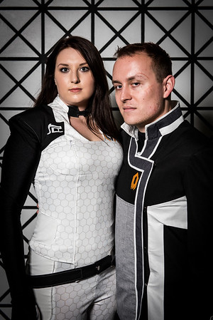 Commander Shepard and Miranda Lawson - Mass Effect 2