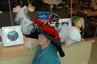 Jan in enormous chapeau