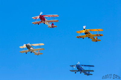 Flyover by the bi-planes of the El Cajon Classic Hanger Club.