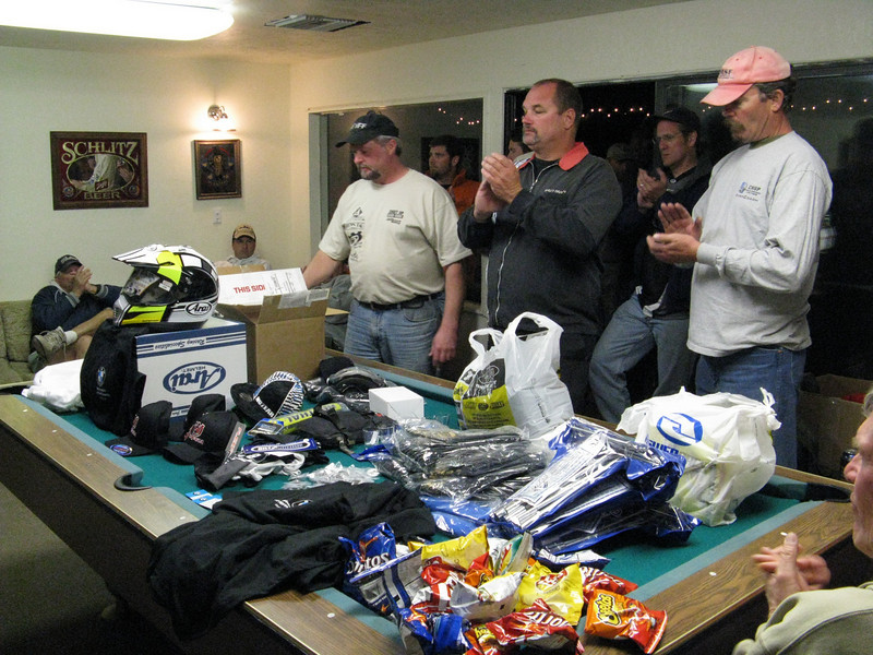 Saturday evening we had a nice BBQ dinner and a huge raffle. Kudos to the organizers. Everyone walked off with a prize.