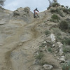 The Pinyon Drop Off is steep, bumpy and lots of loose sand.