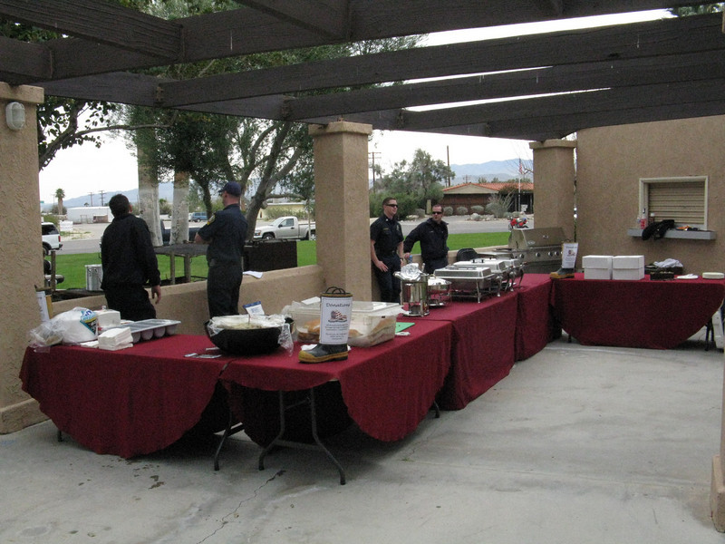 Borrego Springs Fire Department set up and fed the riders lunch for a donation. Good food for a good cause.