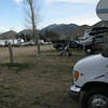 The RV campground was well populated.