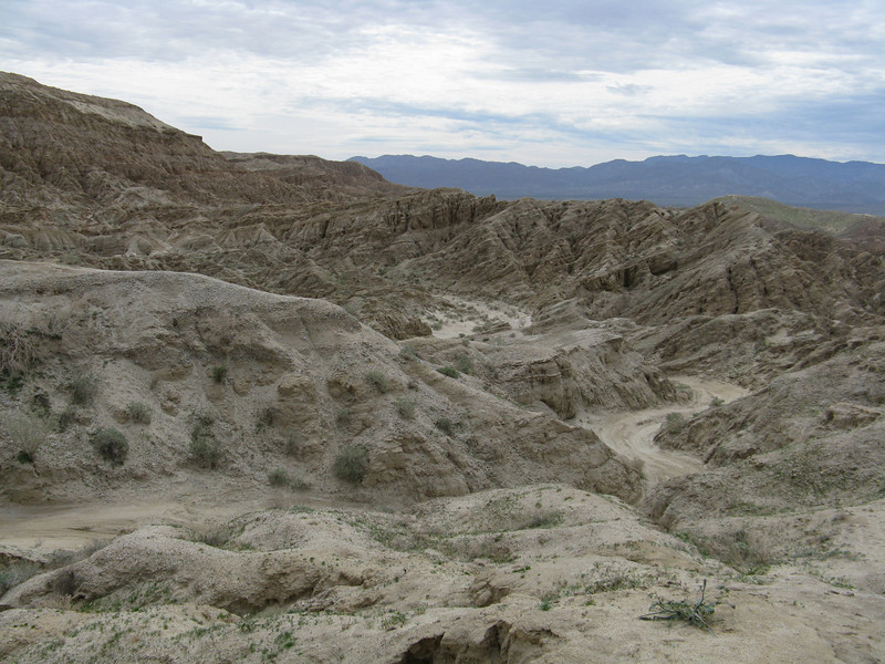 The trail out of Inspiration Wash was very sandy.