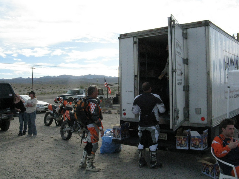 Had the Brown Bag Sandwich Co. truck handing out lunch for the riders. I was starving by the time I got here, and the food was great.
