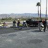 Lots of riders at the gas station.