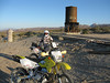 Old water tower at Dos Cabezos. Shadows are getting long. Time to take the quicker section to get back.