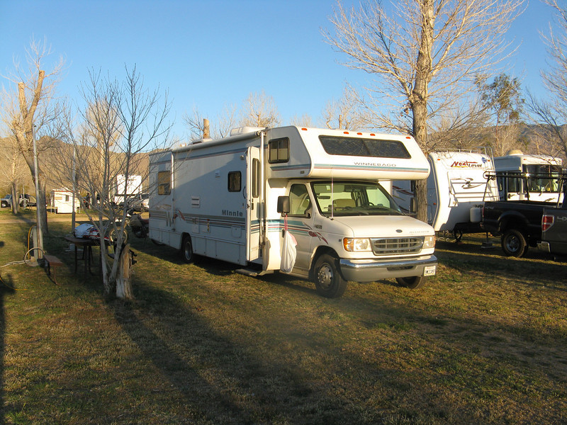 Campsite at the Butterfield RV Resort.
