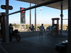 It was really windy coming into Ocotillo where we got more cold drinks and gas.