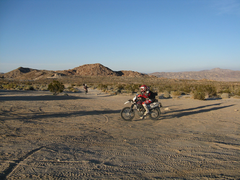 More riders passing us as we decide whether to take the difficult or easy section at Dos Cabezos.