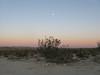 Moon rise over the desert.