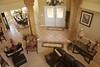 Desert Thistle bed & breakfast in Rockville, UT - living room and foyer viewed from the mezzanine