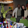 artist Moe Brooker and Barbara Eberlein, Interior Designer (The flowers were done by artistic visionary Brian Kappra of Evantine Design )