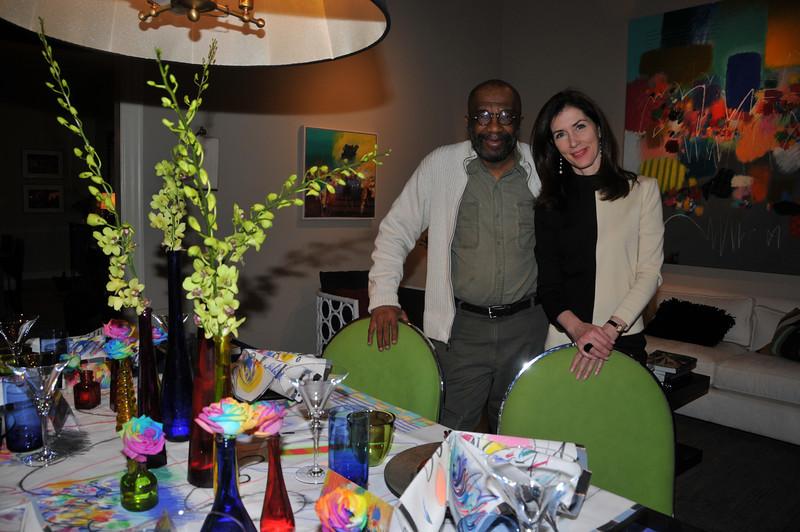 artist Moe Brooker and Barbara Eberlein, Interior Designer (The flowers were done by artistic visionary Brian Kappra of Evantine Design )