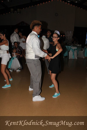Quinceanera On the Dance Floor
