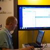 Dennis Vroegop voorzitter van de .NET gebruikersgroep en nog iemand net rechts in beeld:-)