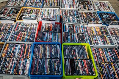 Er werden ook DVD's verkocht