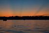 A beautiful sunset on Big Portage Lake, just ducky.