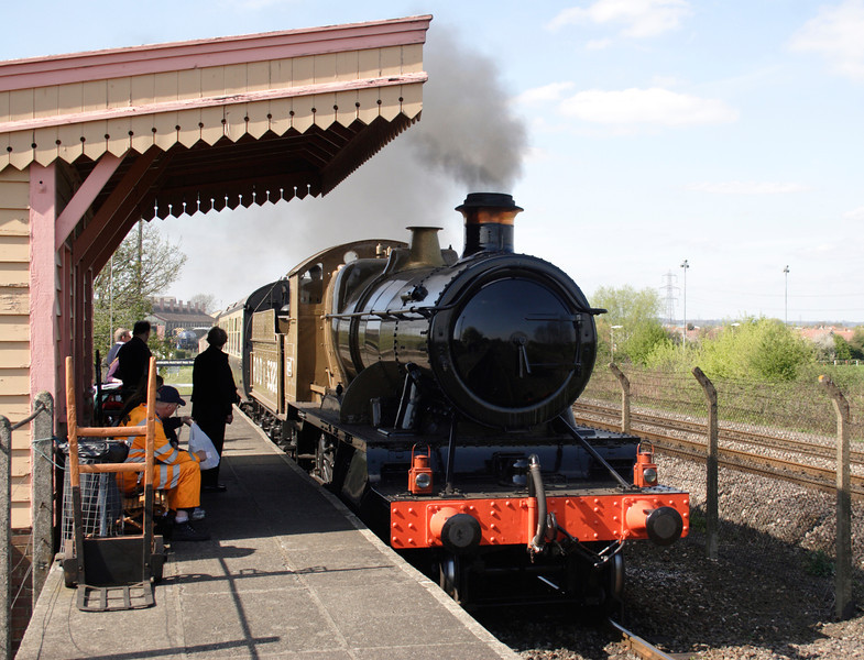 43XX Mogul steam locomotive at Didcot Railway Centre