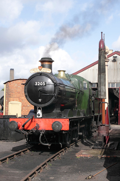 BR Collett Steam locomotive no. 3205 at Didcot Railway Centre September 2011