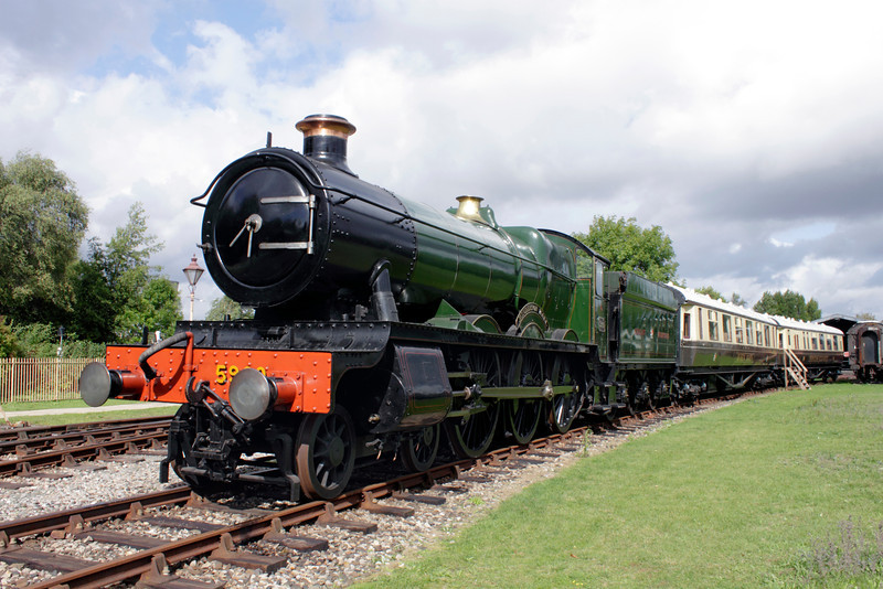 GWR Hall Class 4-6-0 Steam Locomotive No. 5900 'Hinderton Hall' At Didcot Railway Centre September 2011