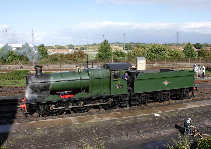 BR Collett Steam locomotive no. 3205 at Didcot Railway Centre September 2011