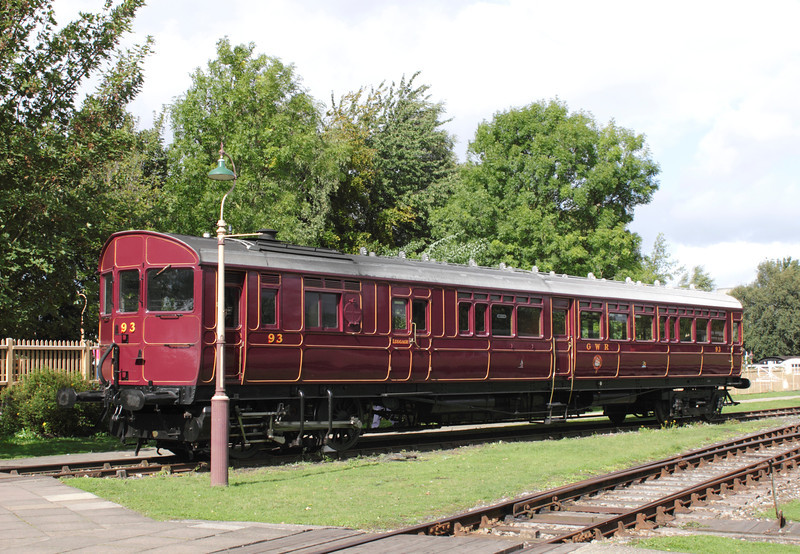 1908 GWR Steam Railmotor no.93 at Didcot Railway Centre September 2011