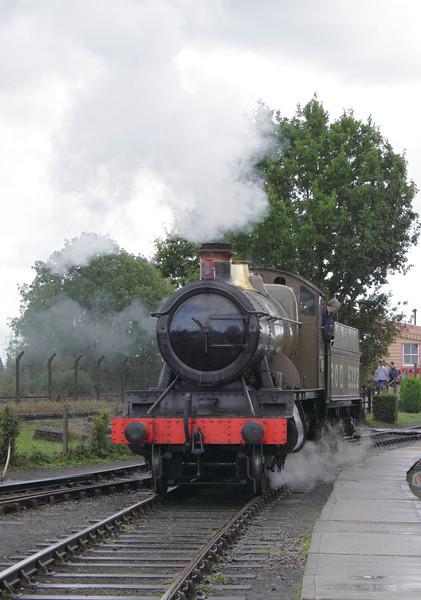 43XX Mogul steam locomotive at Didcot Railway Centre September 2011