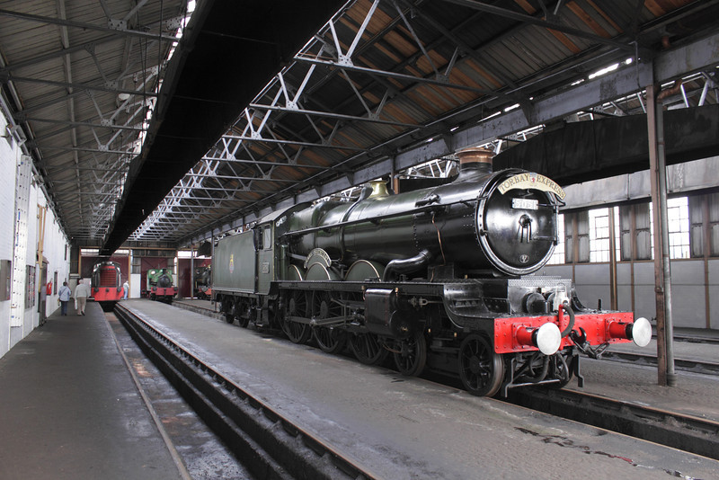 Castle Class 4073 No.5051 'Earl Bathurst' Torbay Express in shed at Didcot Railway Centre September 2011
