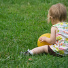 Eve playing with a ball