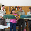 <b>Bill Miller, Sylvia Pelizza, Rolf Olson and Jake Tuttle show off Sylvia's new airboat propeller</b> Ding Darling Staff Visit/Sylvia Pelizza's Going Away Luncheon September 10, 2014 <i>- Kay Larche</i>