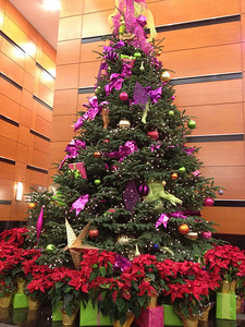 Christmas Tree in KOIN Tower lobby