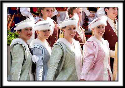 Group shot of the elegant Polish women.